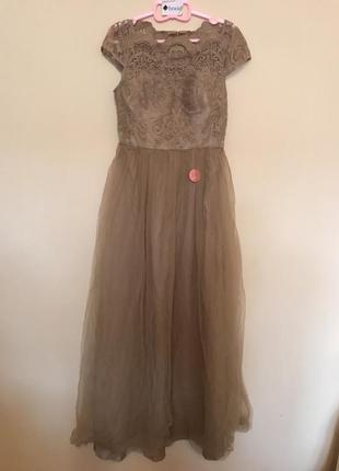 Платье макси chi chi london