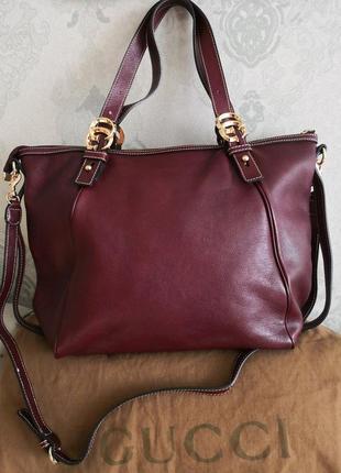 Vip!!! большая шикарная кожаная сумка gucci
