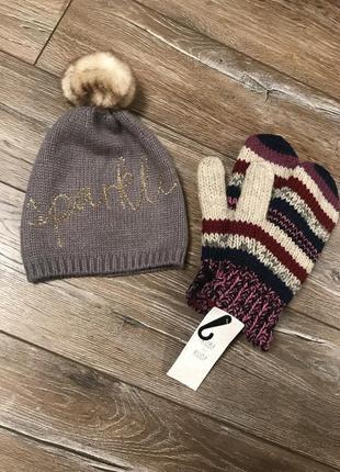 Крутая теплая шапочка