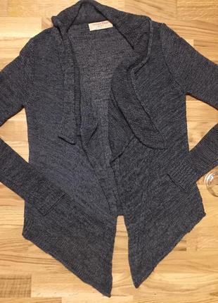 Кардиган tom tailor вязанный теплый кофта накидка реглан туника парка