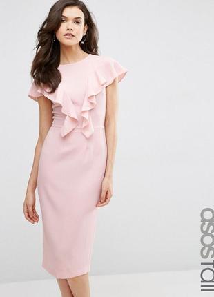 Новорічний розпродаж ! платье с рюшами спереди asos tall