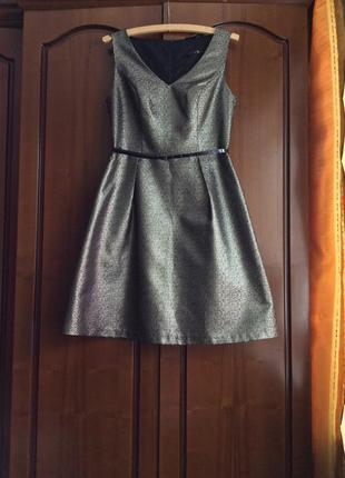 Стильное вечернее нарядное платье сарафан на подкладке tu ( англия )