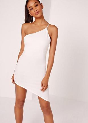 Новорічний розпродаж ! трикотажна асиметрична міні сукня missguided
