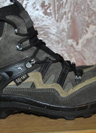 Треккинговые,кожаные ботинки landrover с мембраной del-tex