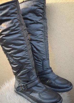 Стильные сапоги ботфорты дутики р.39 25,5 см ботинки демисезонные еврозима