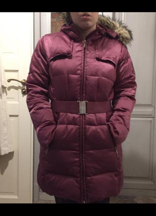 Пальто пуховое geox на девочку 14 лет