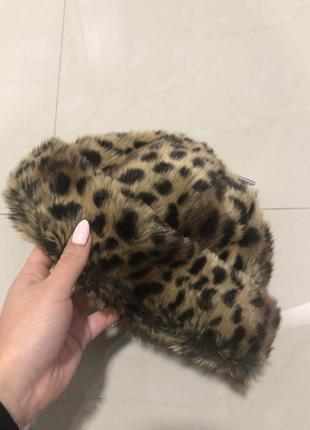 Новая тигровая шапка от topshop с биркой  тигровая