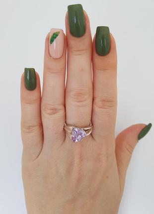 Серебряное кольцо 925 проба с фианитом