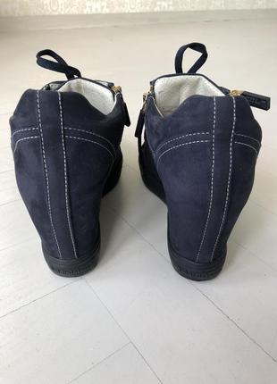 Сникерсы, ботинки baldinini италия синие , замшевые размер 395 фото