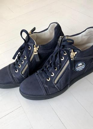 Сникерсы, ботинки baldinini италия синие , замшевые размер 391 фото