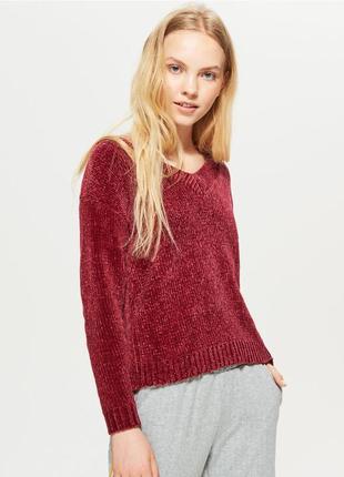 Шикарный крутой теплый мягкий свитер джемпер шенилл