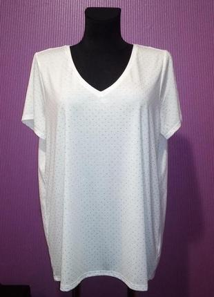 Новая белоснежная футболка со стразами, от бренда next.