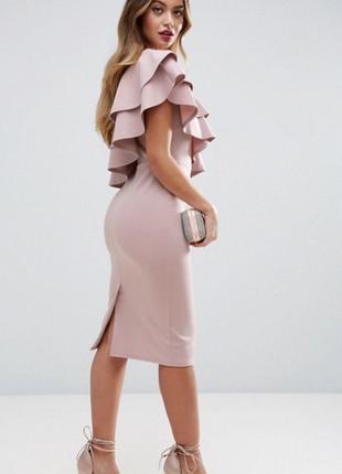Платье миди с воланами asos