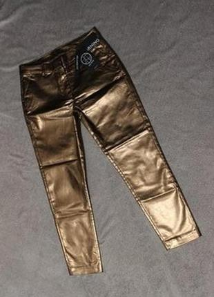 Новые золотые укороченные женские брюки, штаны, джинсы с пропиткой relaxed fit 2nd one