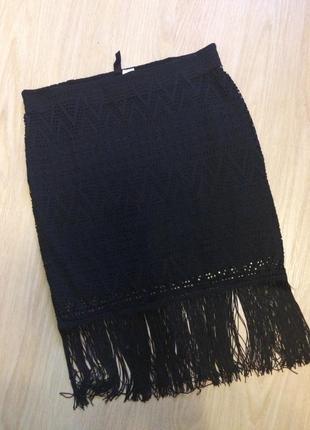 Кружевная юбка с бахрамой  c-м