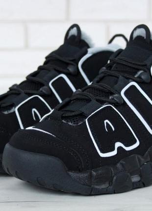 Черные мужские зимние кроссовки nike air uptempo 40 41 42 43 44 45 46 рр
