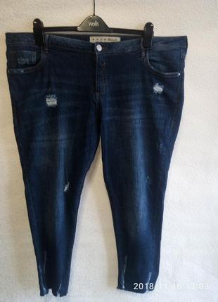 Рваные джинсы с необработаным низом большой размер! 18
