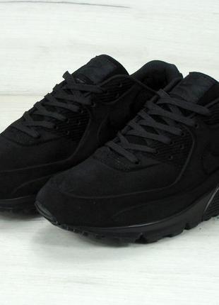 Черные мужские зимние кроссовки nike air max 90 vt 40 41 42 43 44 45 ... 487caee4dd80b