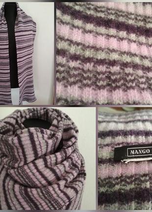 Фирменный, большущий, шерстяной шарф, супер качество, 100% шерсть