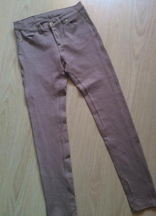 Трикотажные брюки -лосины с лампасами р.м