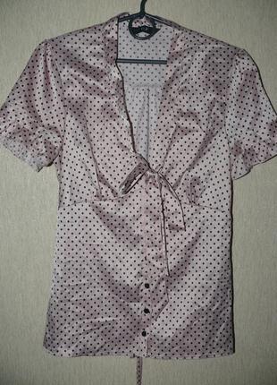 Нежная блузка в горошек