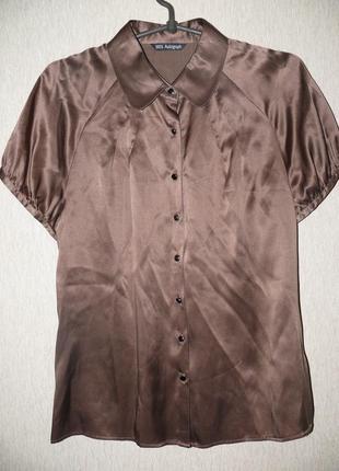 Блузка шоколадного цвета, очень красивая