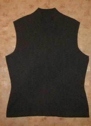 Кашемировый свитер италия р. l кофта безрукавка 100% кашемир