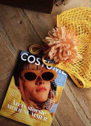 Яркие горчичные солнечные очки rut&circle