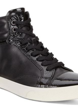 Кожаные ботинки ecco gillian high top, 40 размер