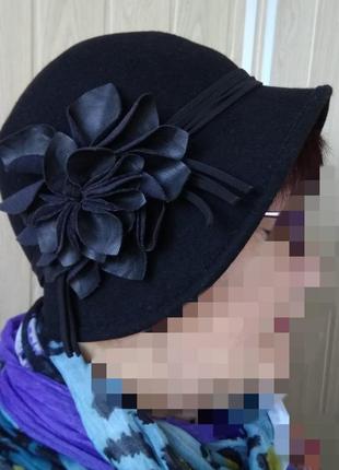 Романтическая фетровая шляпа шапочка шапка