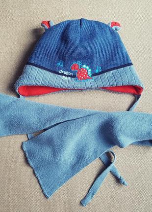 Комплект зимний шапка шарф agbo