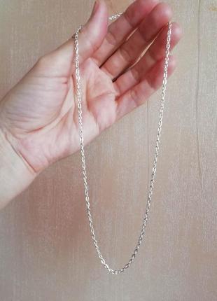 Цепочка серебро, покрытие, якорное плетение