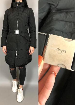 Пуховик зима плинный куртка allegri пух перо
