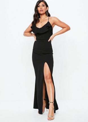 Шикарное макси платье с вырезом missguided