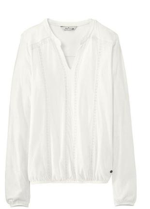 Трикотажная блуза молочного цвета от тсм tchibo (чибо), германия, евро 44/46 (наш 50/52)