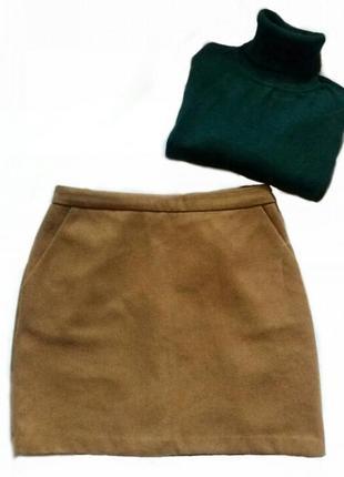 Теплая юбка трапеция