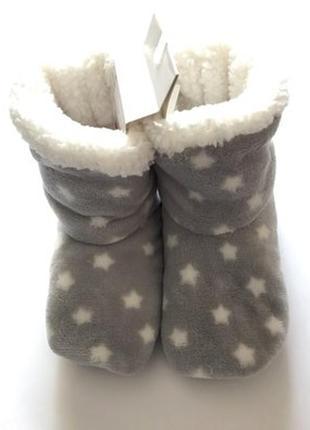Детские тёплые тапочки-сапожки, тапки, чуни, звёзды, c&а, 31-32