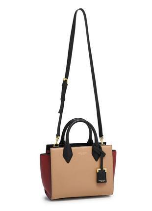 Фирменная кожаная сумочка мини-тотэ henri bendel