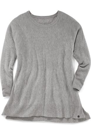 Красивый удлиненный трикотажный пуловер tchibo , р. 48/50 евро, см. замеры! нюанс!