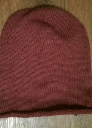 Теплая шапка с ангорой