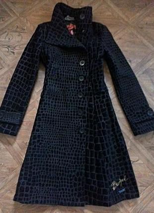 Пальто-косуха от бренда desigual / оригинал.