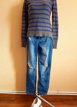 Теплый свитерок с заплатками
