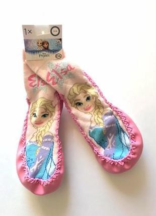 Детские домашние носки-чешки, тапочки, тапки, frozen heart, disney, c&a, 31-33