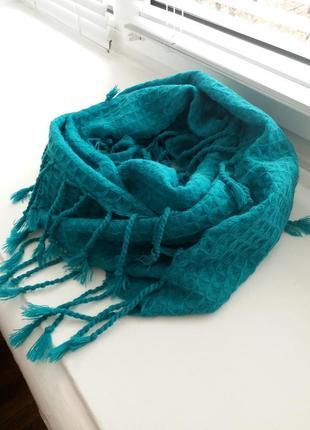 Шарф, хомут, шарф с бахромой