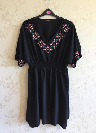 Платье с вышивкой george (uk 14 - наш 48) maternity - можно при беременности