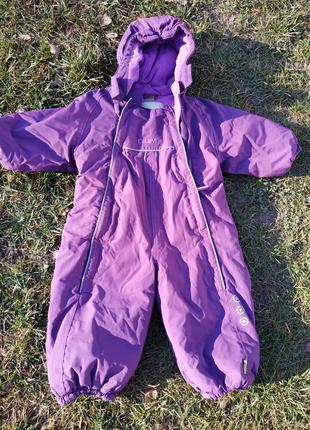 Комбинезон термо фиолетовый 86см