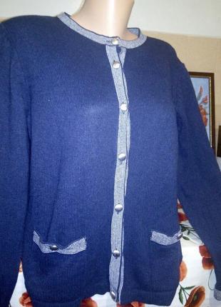 Wool blend  кофта теплая шерстяная р 16