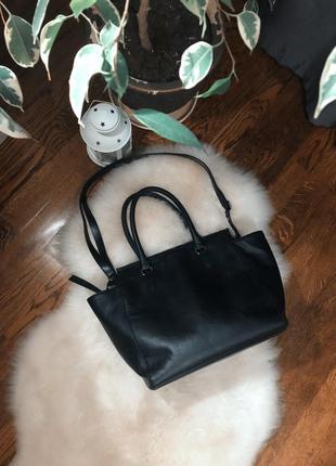 Чёрная сумка базовая h&m