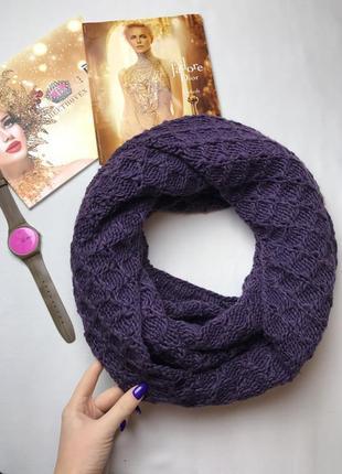 Снуд фиолетовый хомут шарф