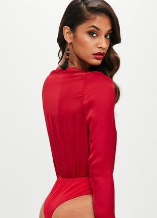 Атласный боди-блуза missguided